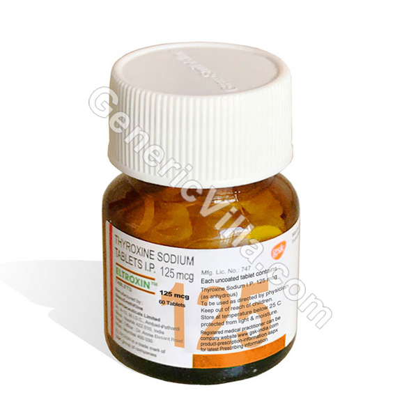 Eltroxin 125mg Thyroxine Sodium Generic Villa