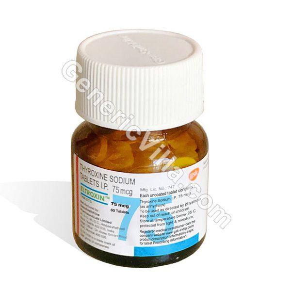 Eltroxin 75mg Thyroxine Sodium Generic Villa