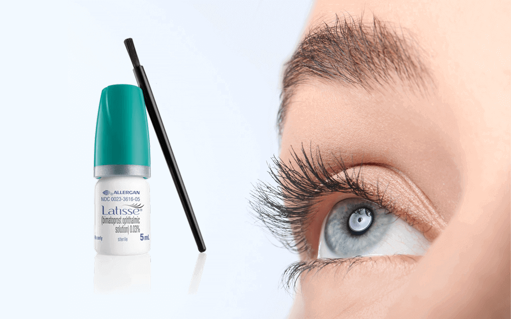 Latisse Used in Getting Longer Eyelashes - GV