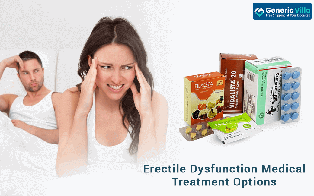 Erectile Dysfunction Medical Treatment Options - Allopathic Medications