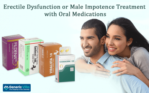 Erectile Dysfunction or Male Impotence Treatment with Oral Medications