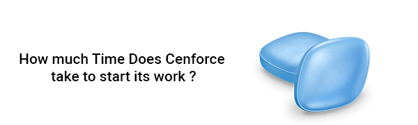 How much time does Cenforce take to start its work