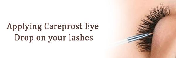 Applying Careprost Eye Drop on your lashes