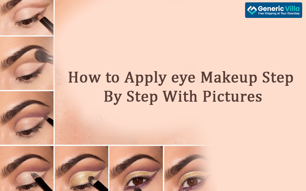 how to apply eye makeup step by step with pictures